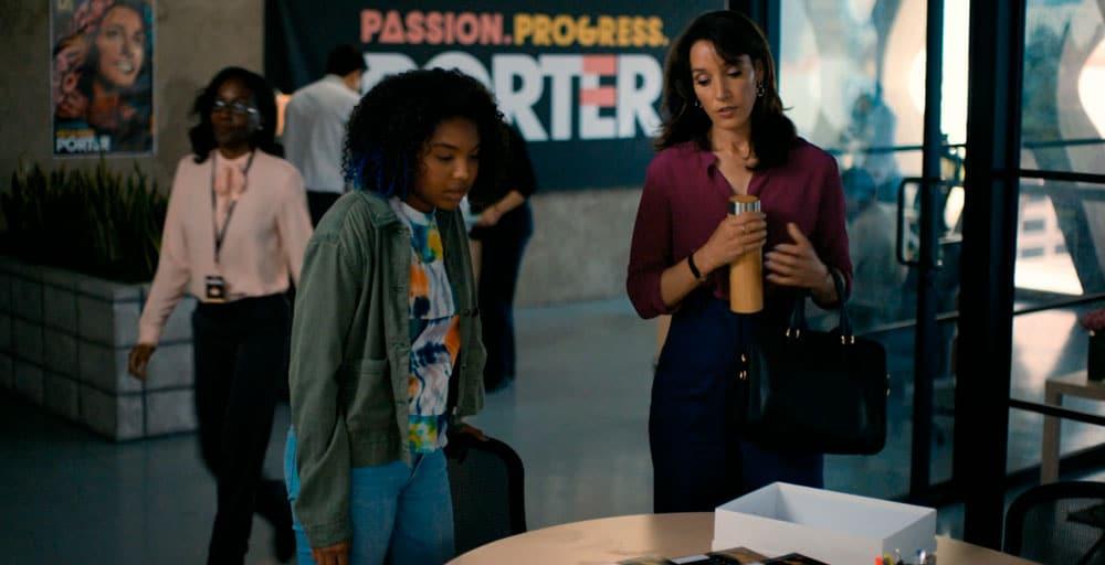 Angelica y Bette trabajando