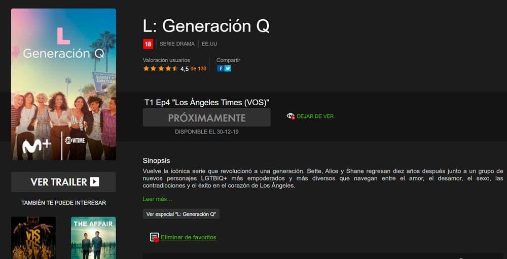 The L Word generation Q en Movistar