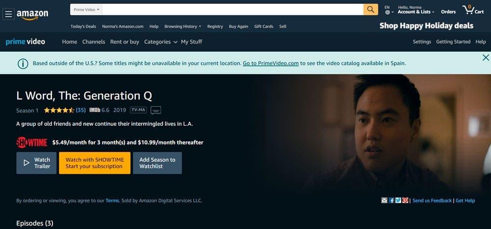 The L Word Generation Q en Amazon Prime