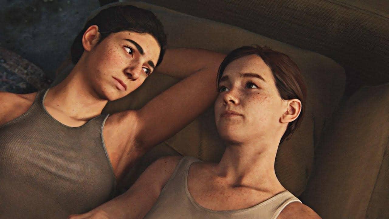 Dina y Ellie hablando acostadas