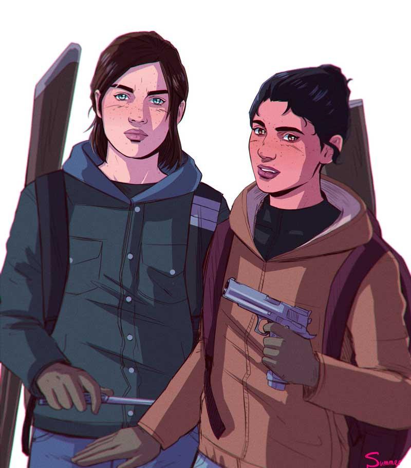 Dina y Ellie por Summerfelldraws